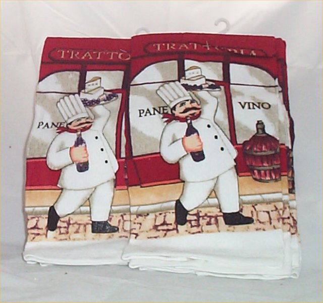 Http Www Ebay Com Itm 4 Pc Fat Chef Kitchen Towels Red Hot Pad Oven Mitt