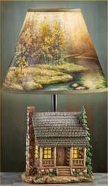 Cabin Country Table Lamp Lodge Home Decor
