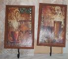 wall plaque hooks coffee cafe cappuccino bistro kitchen