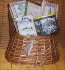 Fishing Creel Gift Basket Fun Candy Mens or Lady Gift