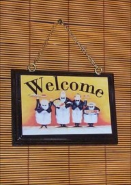 Fat Chef Welcome Sign