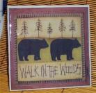 Cabin Trivet Ceramic Tile Bear Kitchen Lodge New /Bearw