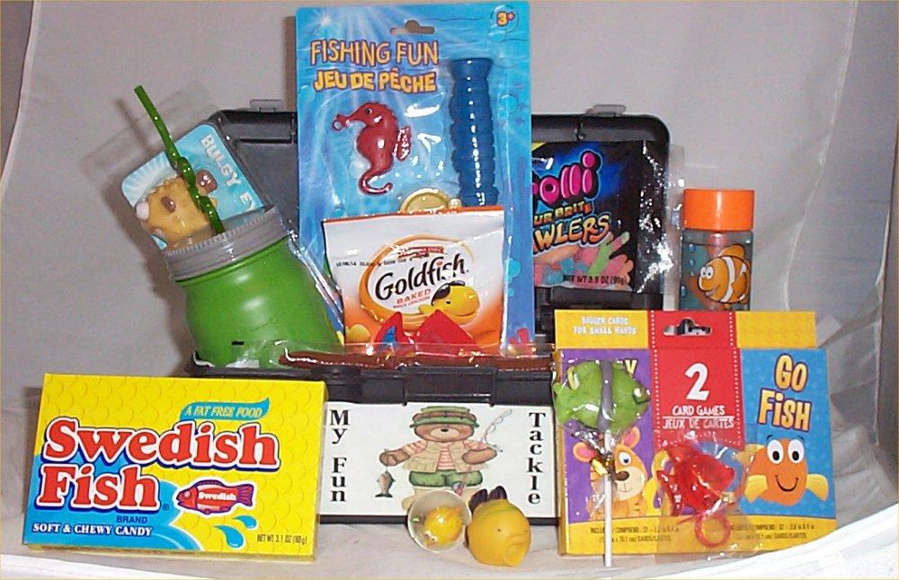 Tackle Box Kids Gift Basket Fun Fishing Gift Lure Kids Cup ...